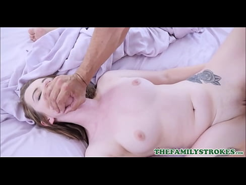 Horny Teen Step Daughter Karlie Brooks Wakes Her Step Dad Up And Gets Fucked To Orgasm While Mom Sleeps Next To Them