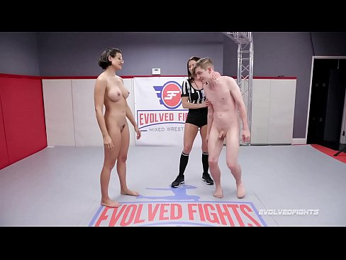 Busty Penny Barber naked wrestling fight vs Sam having her pussy and ass eaten good