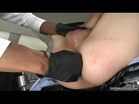 TS doctor examines prostate to patient