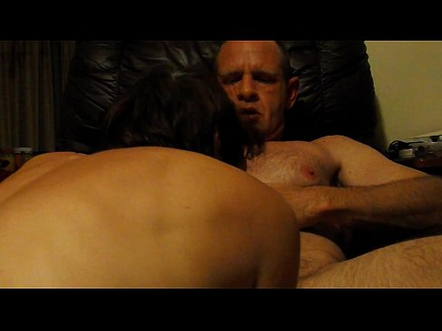 cover video amateur wife  sucks husband s big dick in his chair