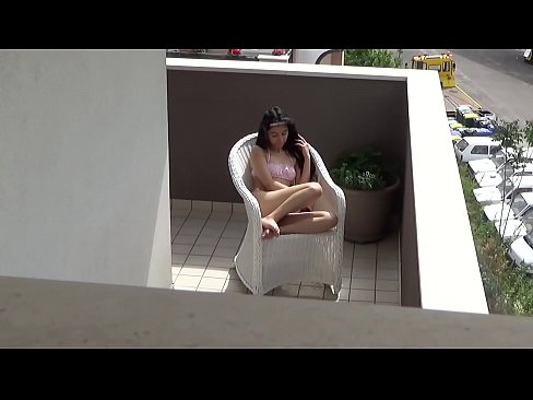 Caught spying my neighbors daughter masturbating on her balcony
