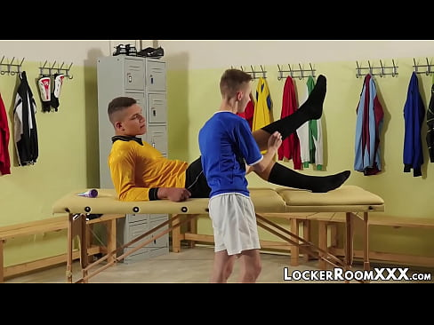 Hot soccer twink Dominik Black sucks thick throbbing cock