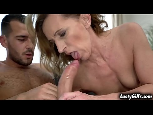 Viols vintage pussy gets a hard dick down from a young stud fucking her from every angle