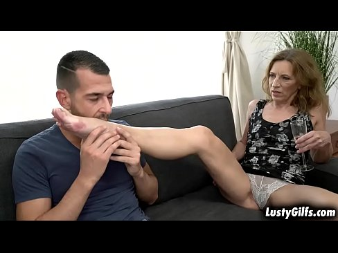 Lusty granny Viol is ready for a young cock John Price is the lucky guy who fucks her vintage hairy pussy