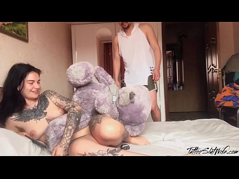 StepBrother Peeped On Sister's Masturbation and Rough Fuck