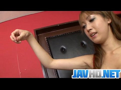 Horny Asian beauty engulfs a big dong in serious porn show