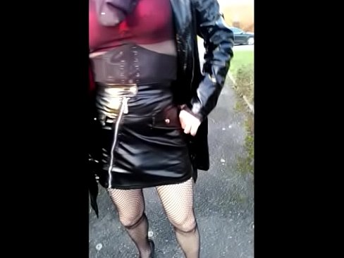sophie, french transvestite, shows off at the crossroads