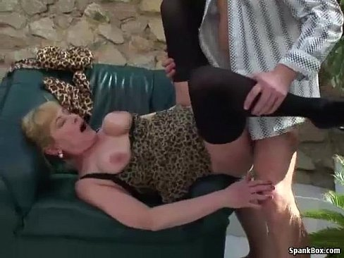 Busty mature gets her pussy stuffed
