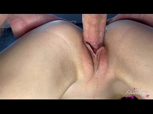 Sexy Girl Passionate Sex Closeup and Cum Inside