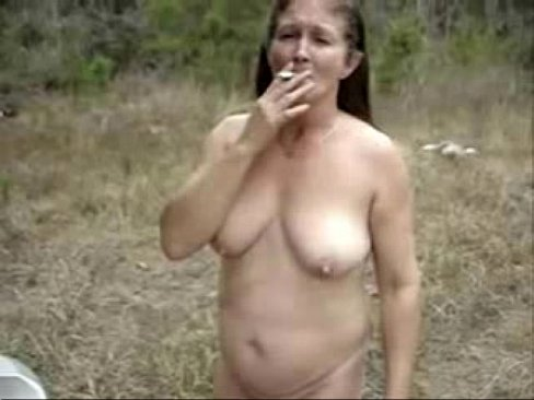 Grandma outdoors slut