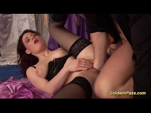 chubby horny babe gets big cock sex and cumshot load