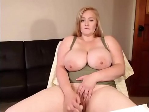Chubby blonde with big tits