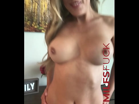 Hot busty blonde MILF Ellie Lilly gets naked for casting interview