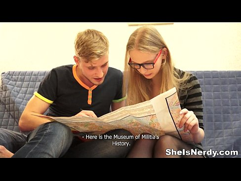 She Is Nerdy - This blonde teeny is in the city