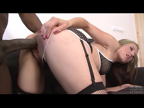 Blonde milf in lingerie fucking black cock Interracial Fuck Blonde Babe Stockings Sexy Lingerie Fucks Black Cock On Couch Xvideos Com