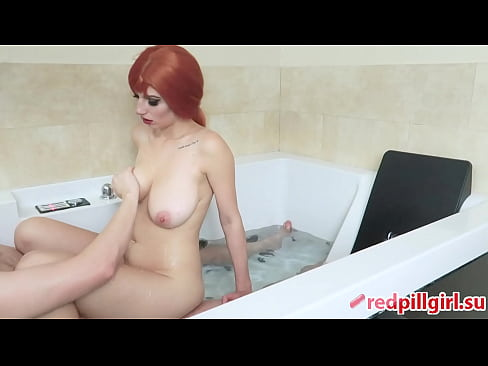 sexy busty redhead fucked in jacuzzi redpillgirl