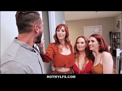 Teen Redhead Step Daughter Aria Carson & Both Her Big Tits MILF Step Mom's Orgy With New Boyfriend