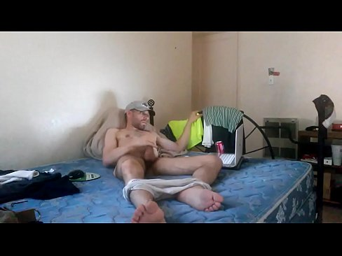 jerking uncut cock at my Uncle's house