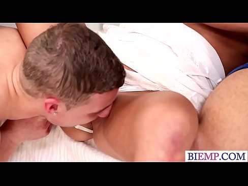 Horny wife shares her lover with her husband