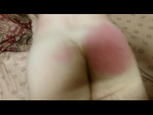 Spanking the bad disobedient boy