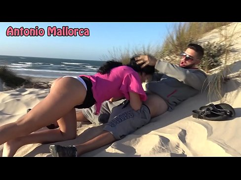 PUBLIC BLOWJOB on THE BEACH!