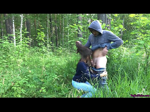 Girl Sucking Dick and Fucking in the Wood - Public Sex