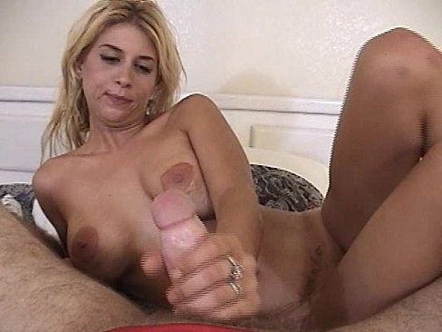Blond whore sucks cock and gets facial cumshot