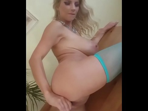 In sexy Stockings after shooting I recorded myself masturbate on my mobile