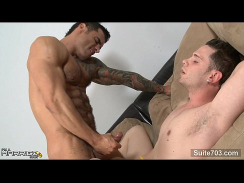 Horny tattooed married guy gets fucked by a gay