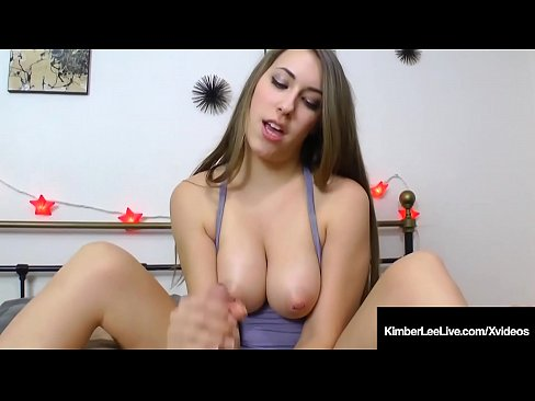 Clip sex Kimber Lee Strokes Your Dick Between Her Natural Young Tits!
