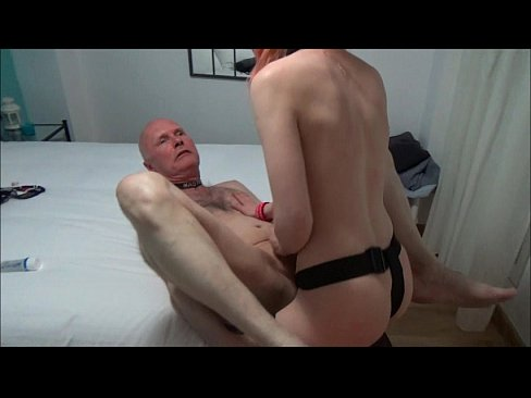 Ulf Larsen, 59, fucked by the whore Angel, 21, with strapon