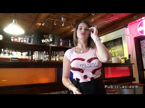 Busty barmaid gets fucked at work 5