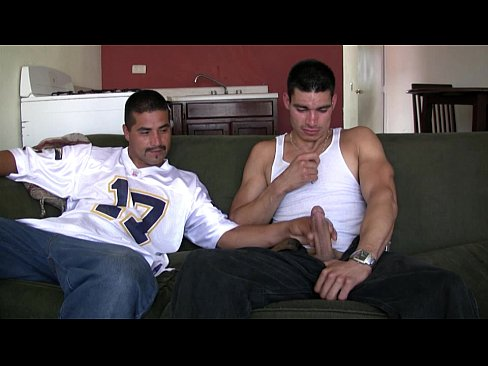 Teen guys with a hard on