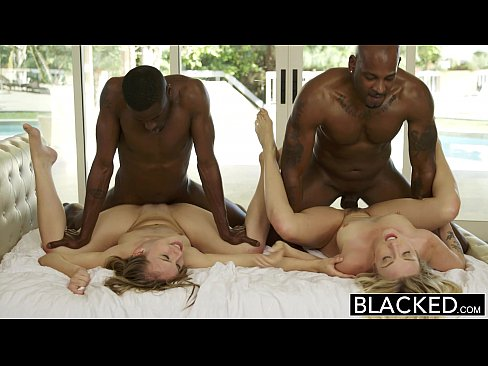 BLACKED First Interracial Foursome for Beautiful Blondes Karla Kush and Jillian