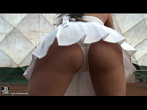 Mexican girl bent over