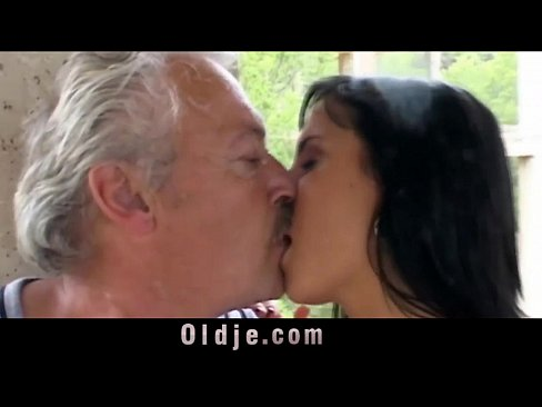 Old man feeds dirty Nikky and Renata with his old cumXXX Sex Videos 3gp