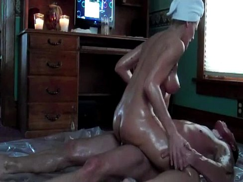 Oiled wife fucked