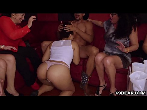 Horny strippers blow a dude039s mind while they play with each other