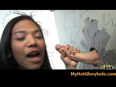 Girl slut-sucking-cock-for-a-nice-bukkake-through-gloryhole18