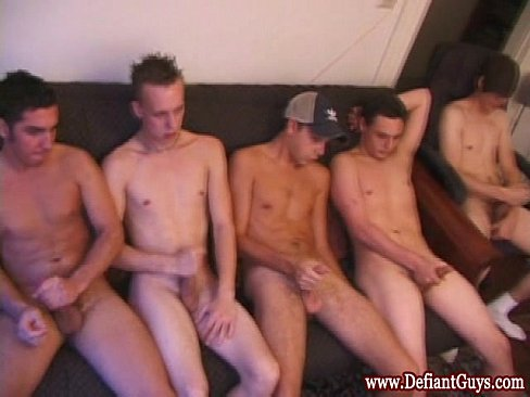 Hung british twink jerks it