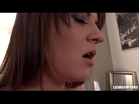 Lesbo lovers Courtney Blue &amp_ Kristina Miller lick their delicious asses's Thumb