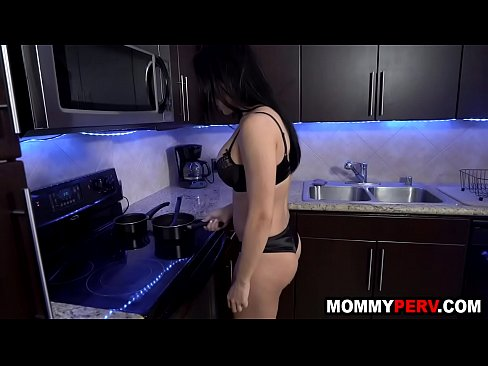 Foreign milf mom gives her horny son a blowjob