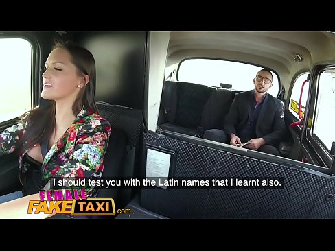Female Fake Taxi Stud gets balls deep in sexy drivers wet tight pussy