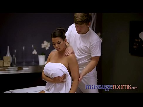 Massage Rooms Big tits Euro brunette Chloe Lamour in oiled up ecstasy