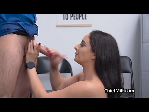 Clip sex Milf suspect sucks cock at the office after strip search