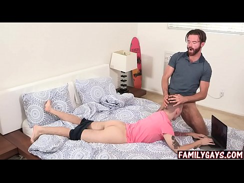 Dad fucks son before mom gets home