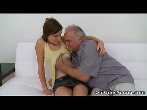 Old Goes Young - Old guy needs to play with a cute young pussy