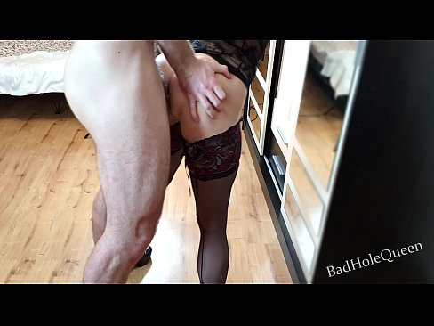 Finally, the neighbor's ass is ready for some hardcore anal sex. Receives cum in mouth and swallows