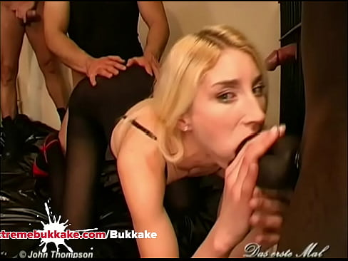 Silke Sucks a Big Dong and Fucked on Bed in Gangbang