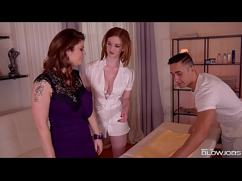 Best Blowjob At Massage Parlor With Horny Babes Lucia Love & Zara DuRose